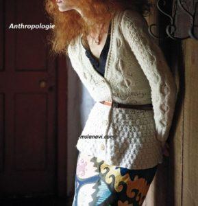 Вязаный жакет спицами от Аnthropologie