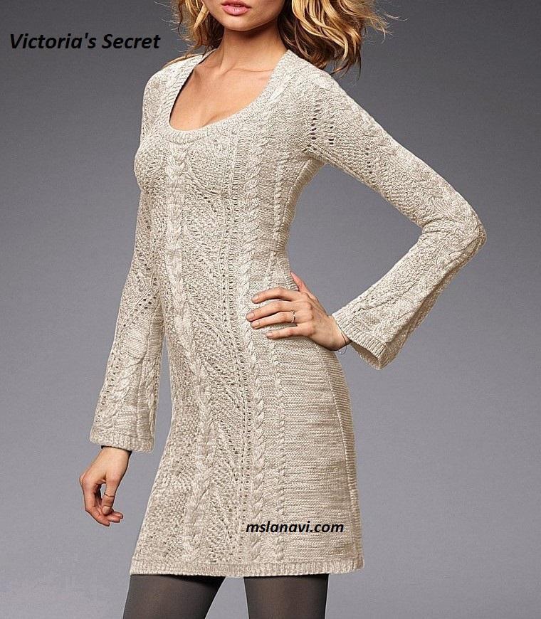 Вязаное платье спицами от Victoria's Secret