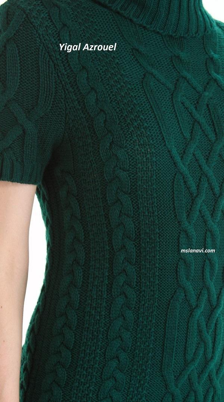 Вязаное платье спицами от Yigal Azrouel
