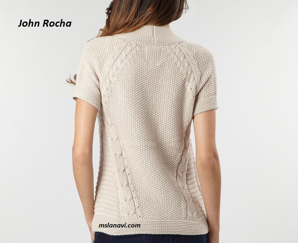 Вязаный жилет спицами от John Rocha