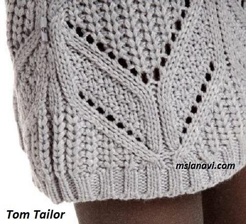 Вязаный сарафан спицами от Tom Tailor