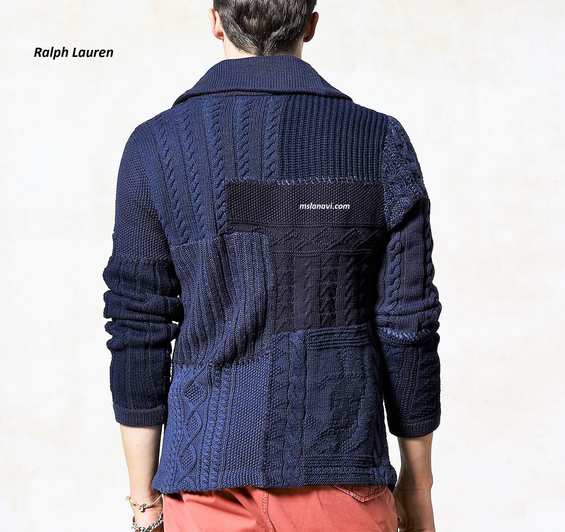 Мужской жакет для вязания спицами от Ralph Lauren