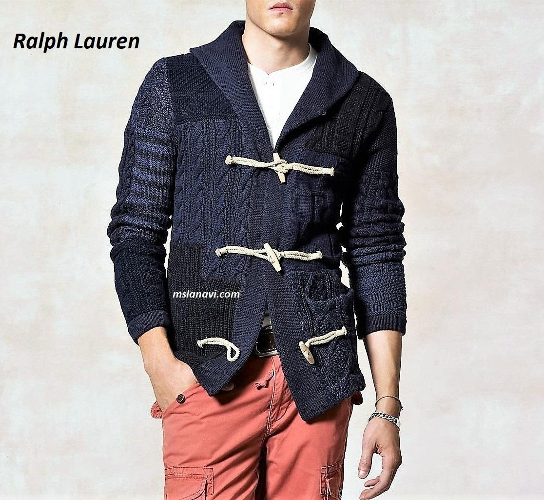 мужской жакет спицами от Ralph Lauren схема обсуждение на