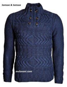 Мужской свитер спицами от Samsoe & Samsoe