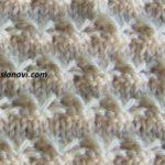 Рельефный узор спицами №125