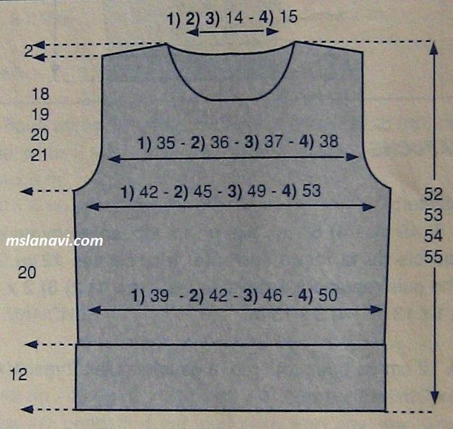 Короткий жаккардовый свитер - выкройка