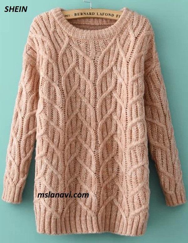 Вязаное платье-свитер от SHEIN