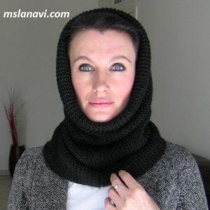 Вязаный шарф-снуд, со швом или без шва