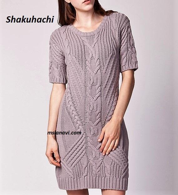 Вязаное платье спицами от Shakuhachi