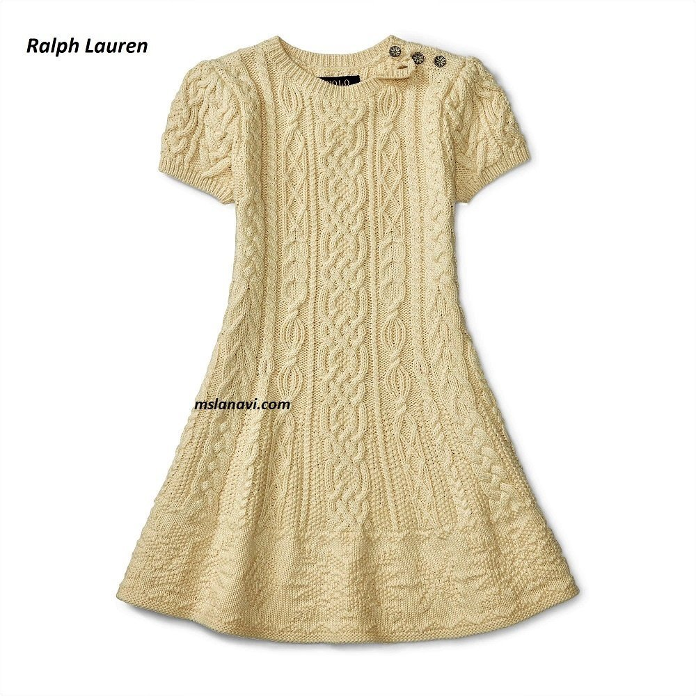 Платье спицами для девочки от Ralph Lauren