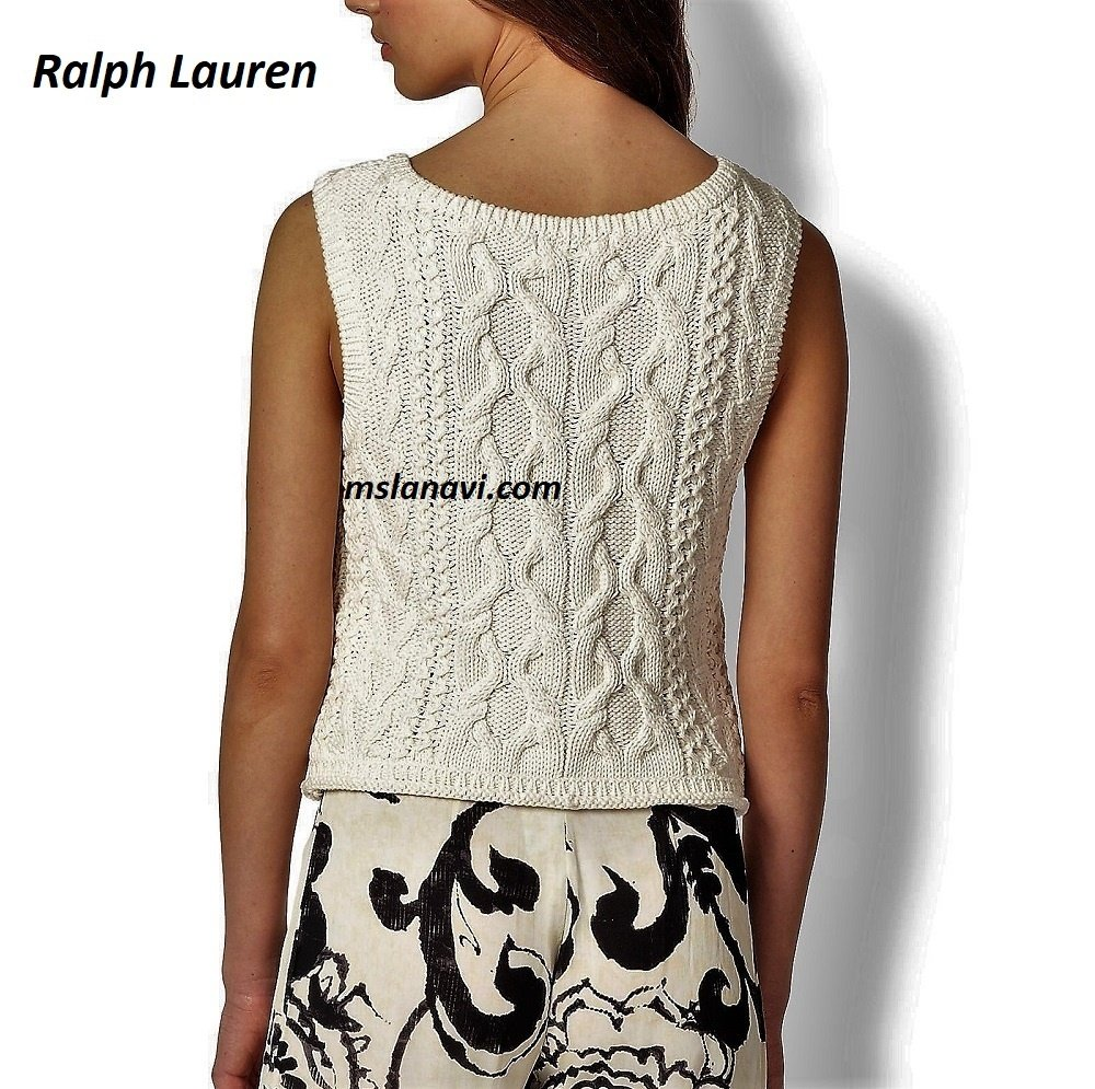 Белый топ аранами от Ralph Lauren