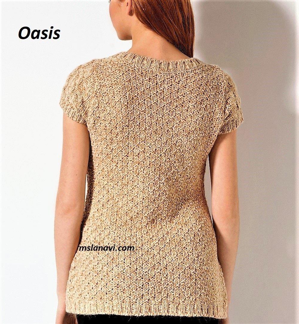 Простая туника спицами от Oasis