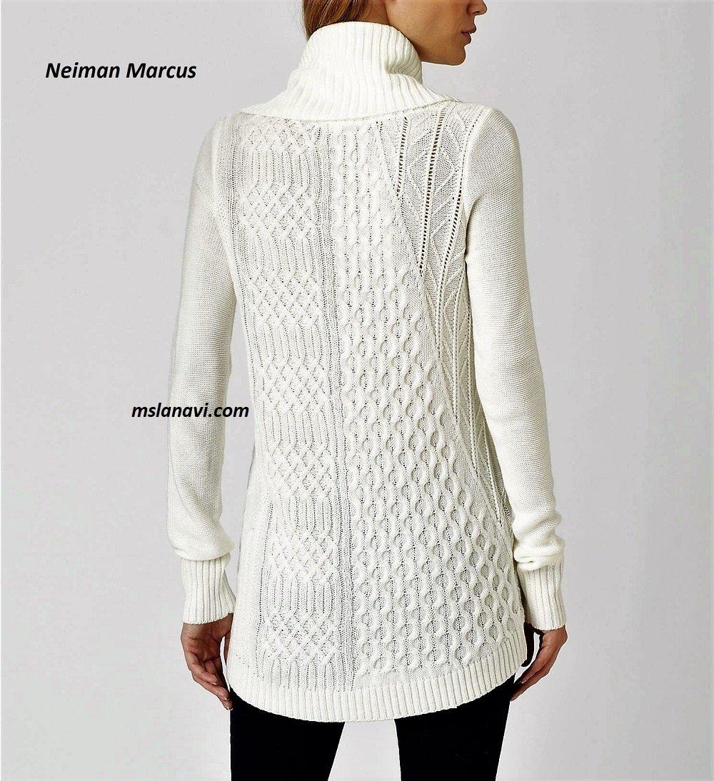 Модный свитер спицами от Neiman Marcus