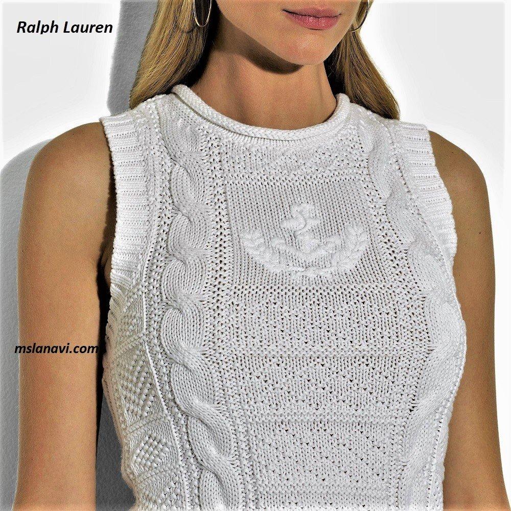 Простой топ спицами от Ralph Lauren