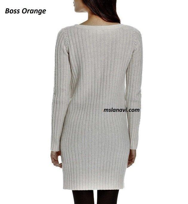 Вязаное платье спицами от Boss Orange