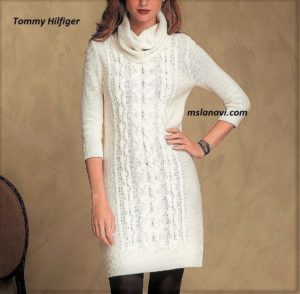 Вязаное платье спицами от Tommy Hilfiger