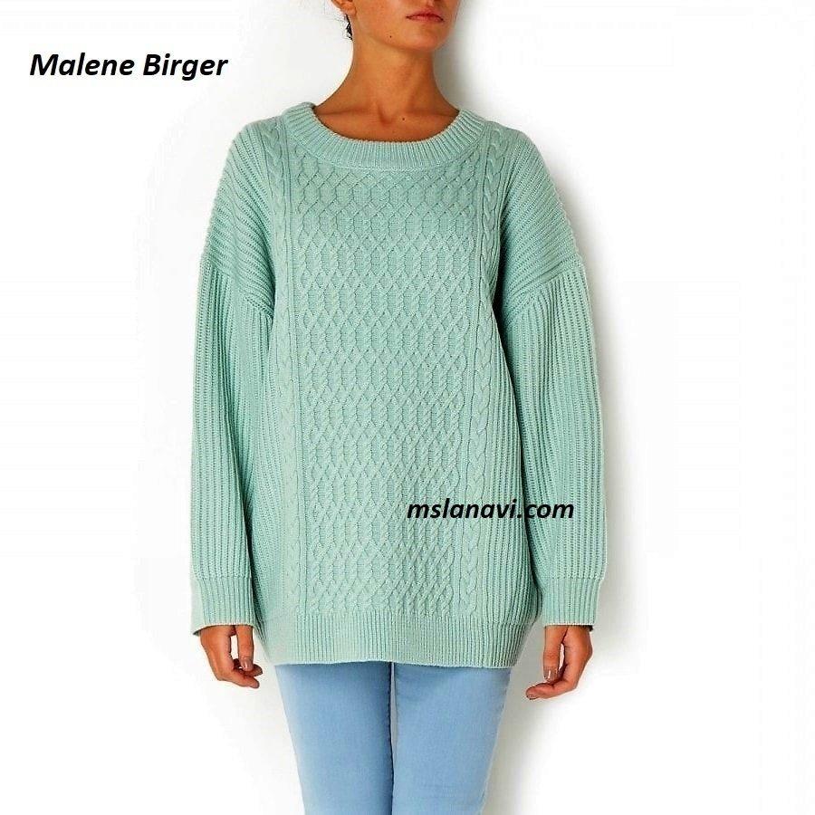 Нежный свитер спицами от Malene Birger