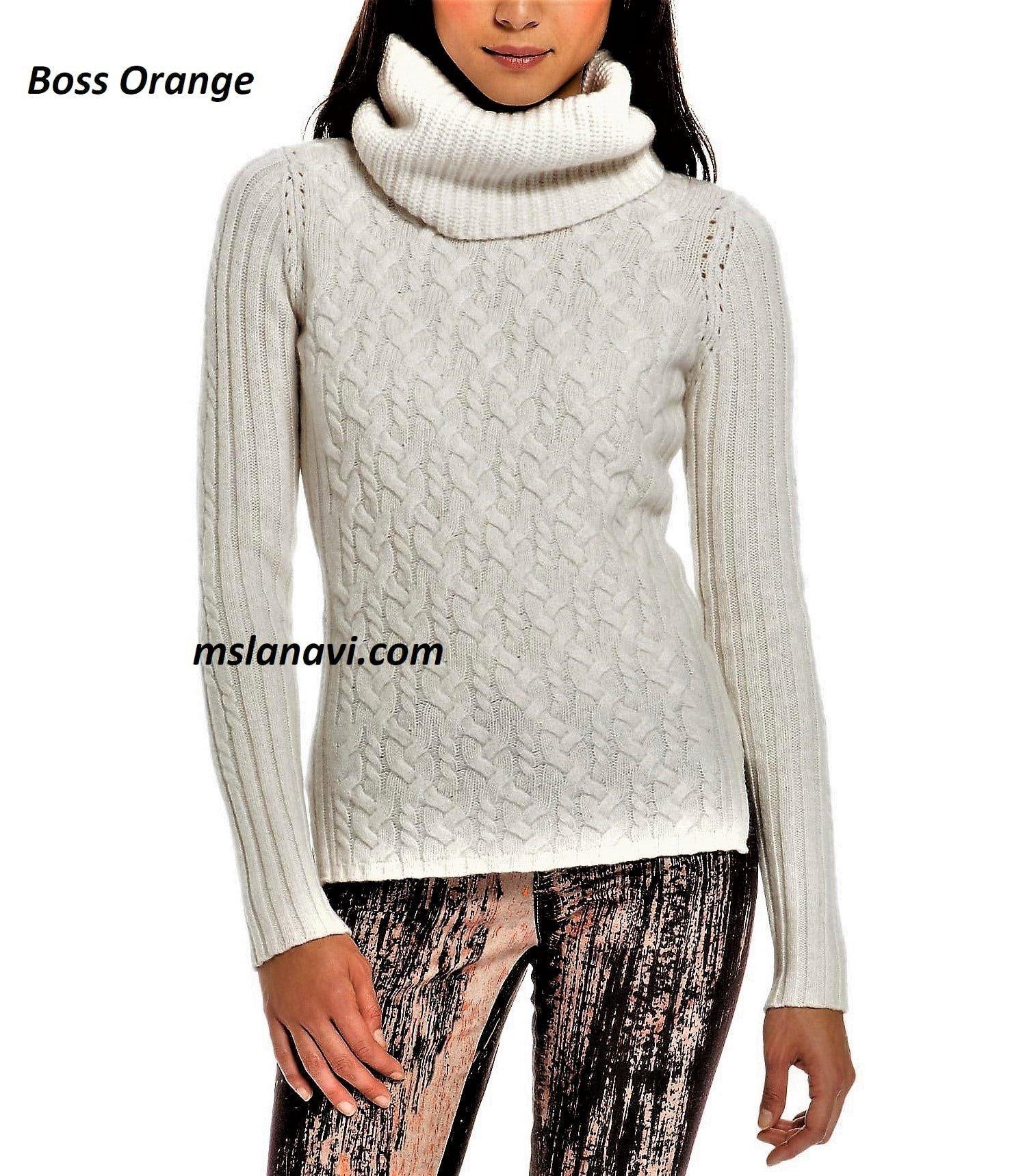 Приталенный свитер спицами от Boss Orange