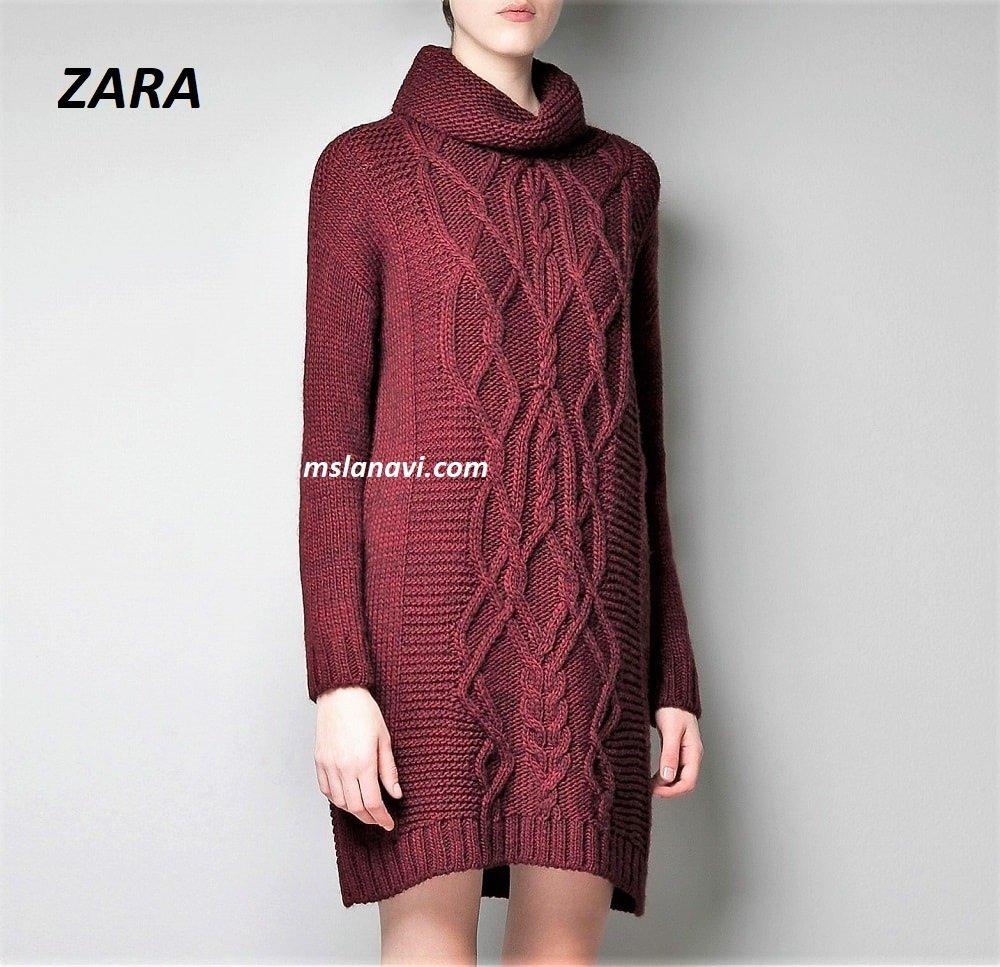 5c840c02f60 Чудное платье спицами от ZARA