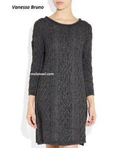 Вязаное платье аранами от Vanessa Bruno Athe