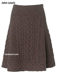 Вязаная юбка спицами из магазина John Lewis