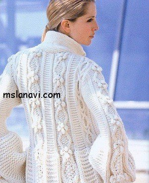 Белое пальто от Phildar