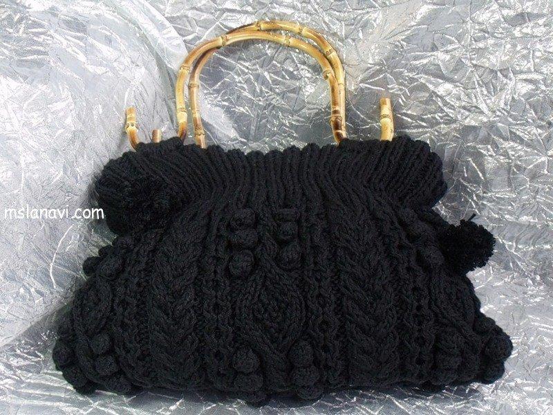 Вязаная сумка спицами с описанием