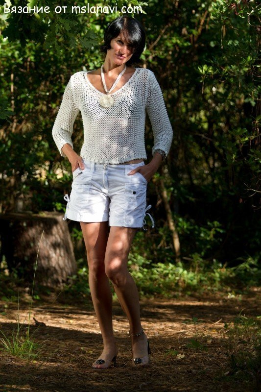 Пуловеры спицами для женщин