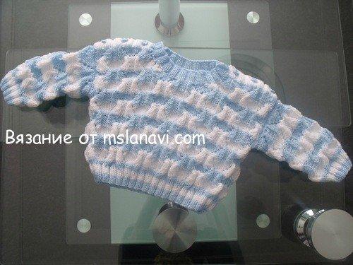 """Вязание для малышей. Пуловер """"Маленький Матросик"""""""