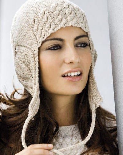 вязаные шапки спицами