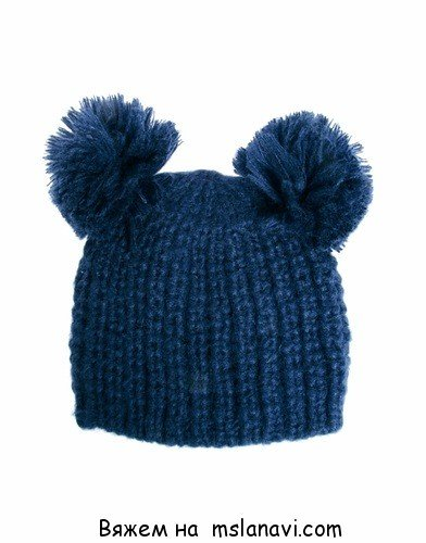 вязание спицами шапки