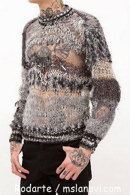 модное вязание для мужчин