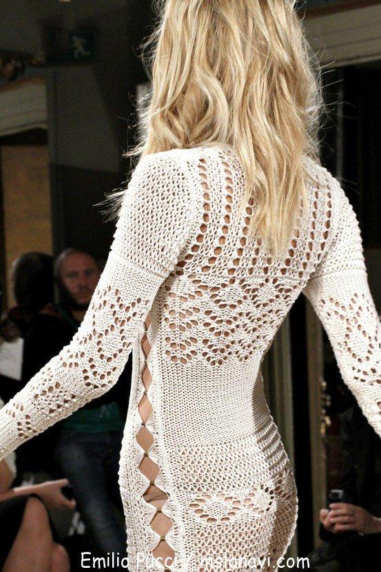 вязание на спицах платья модели
