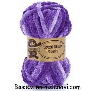 шарф из меланжевой пряжи