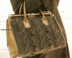 вязание спицами сумки с описанием