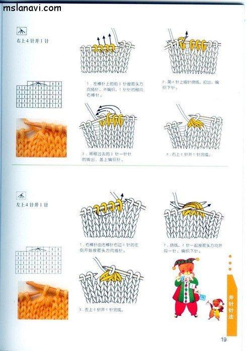 вязание японские журналы, условные обозначения, 11