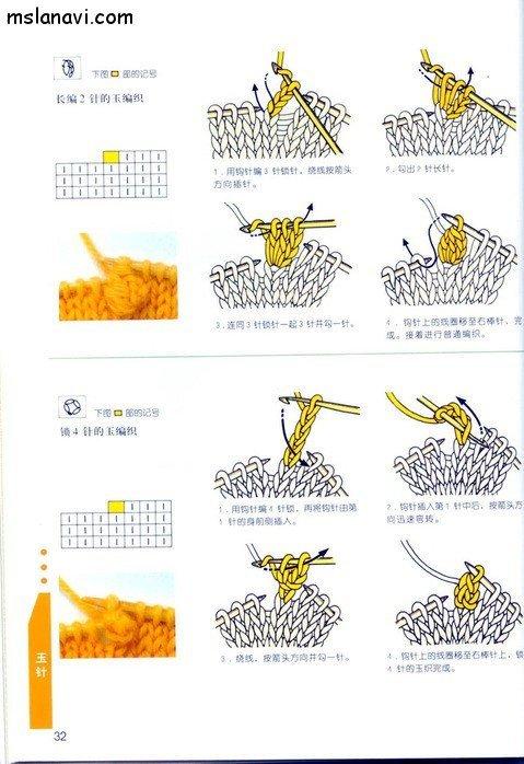 вязание японские журналы, условные обозначения, 23