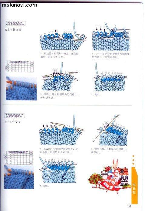 вязание японские журналы, условные обозначения, 40