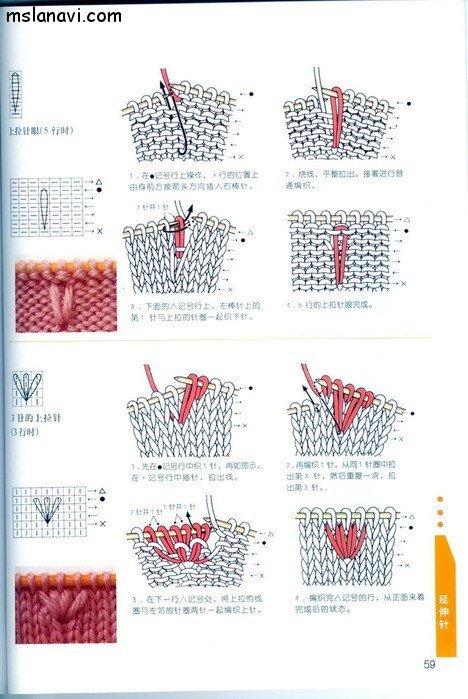 вязание японские журналы, условные обозначения, 46