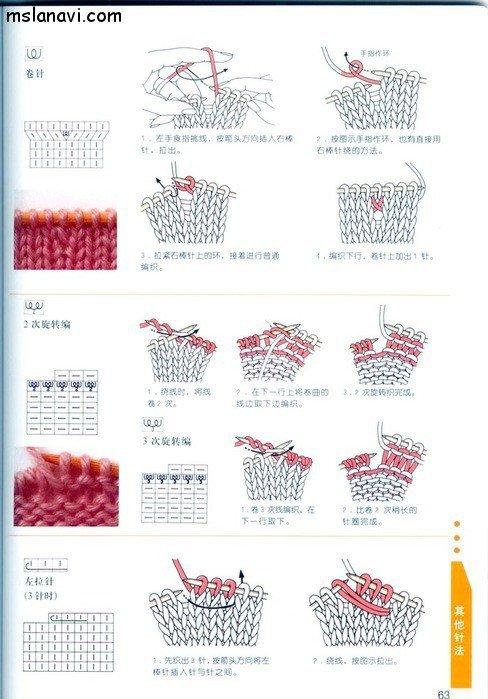 вязание японские журналы, условные обозначения, 50