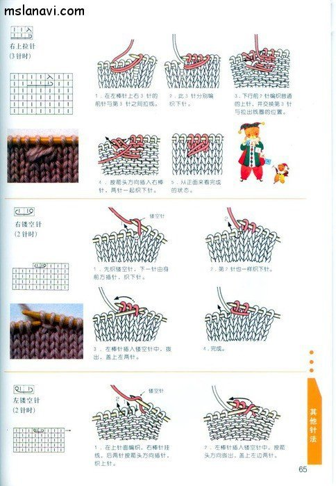 вязание японские журналы, условные обозначения, 52