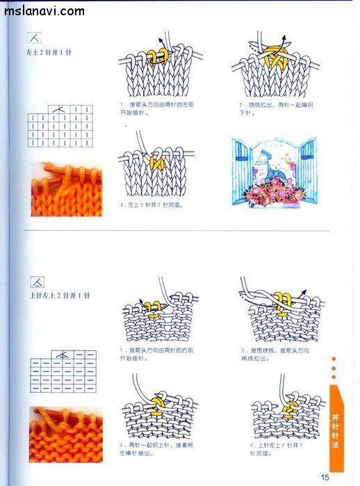 вязание японские журналы, условные обозначения, 7