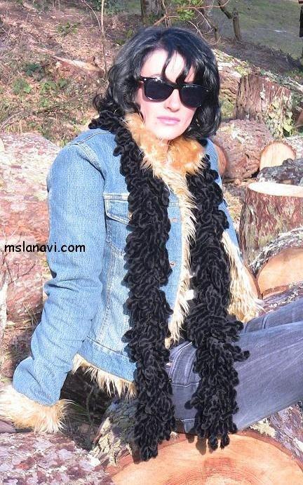 вязаный шарфик