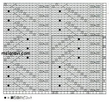 ажурный узор схема 3