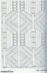 узор спицами схема