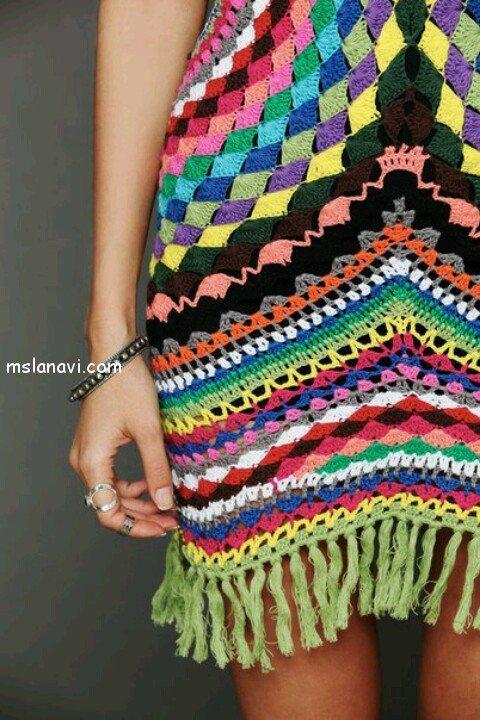 вязание крючком платья