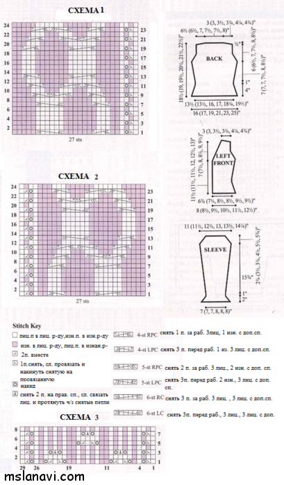 ажурный жакет спицами со схемами вязания