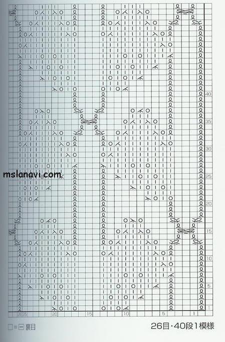 Ажурный узор со схемой