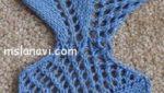 узор спицами двусторонние листики со схемой