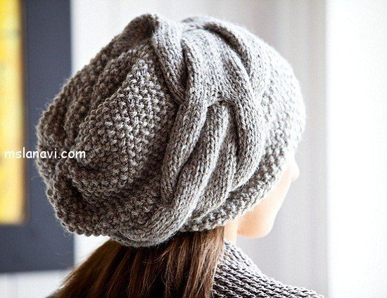 вязаная шапка для вязания спицами